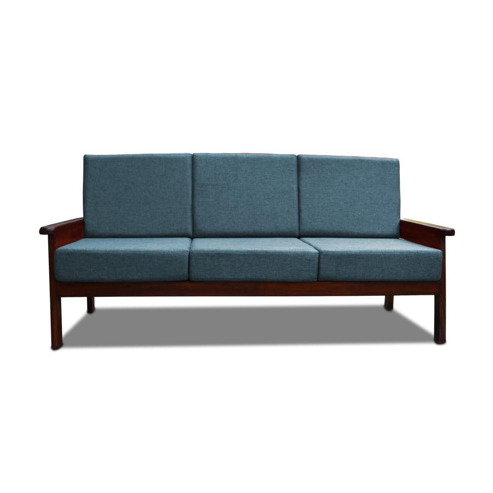 Mademoiselle Three Seater sofa Teal Blue