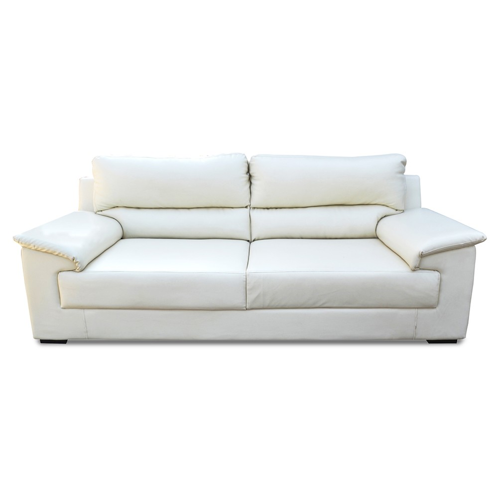Glamour Three Seater Sofa White