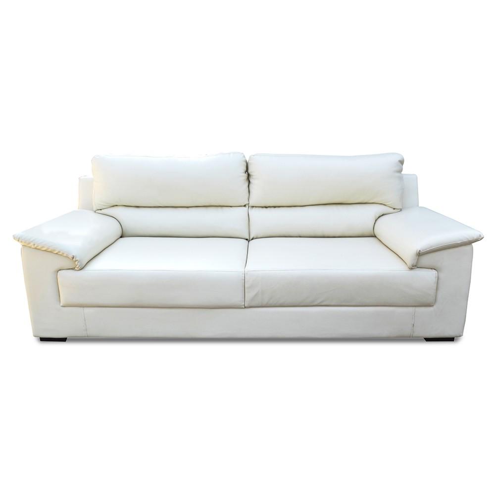 Glamour Three Seater Sofa White