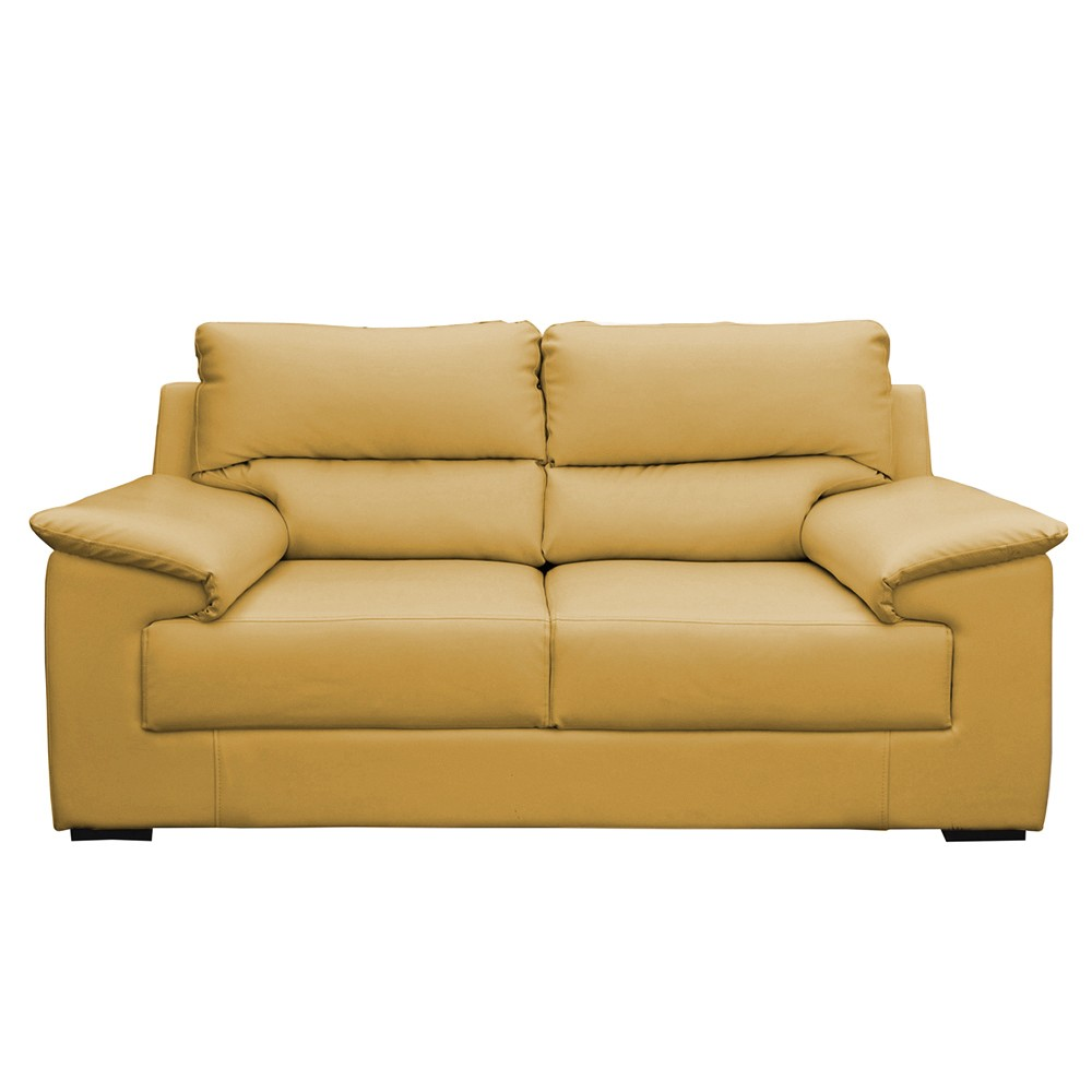 Glamour Two  Seater Sofa yellow tean