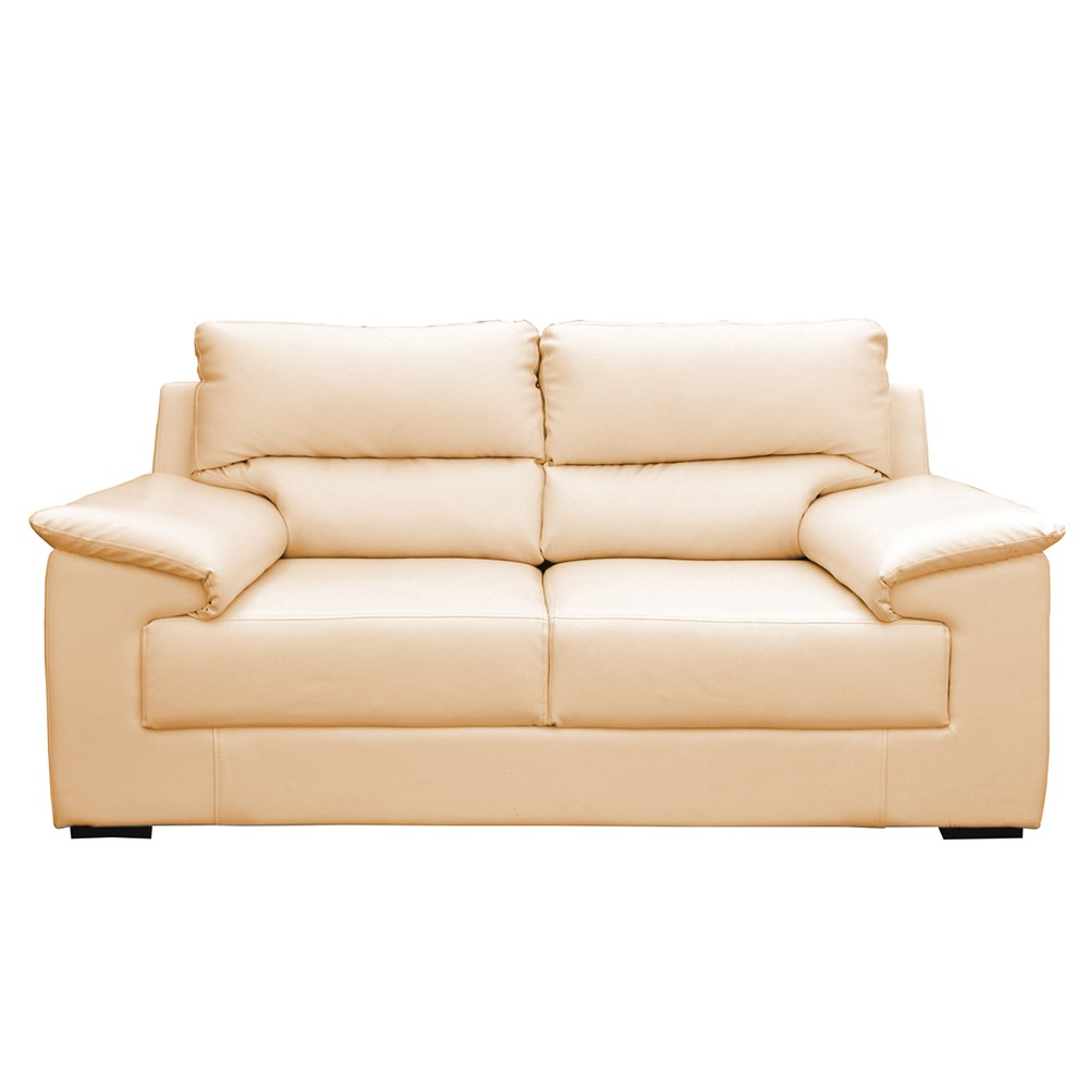 Glamour Two Seater Sofa Half white
