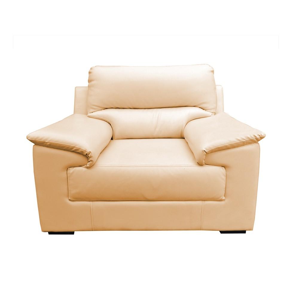 Glamour Aramchair Seater Sofa Half white