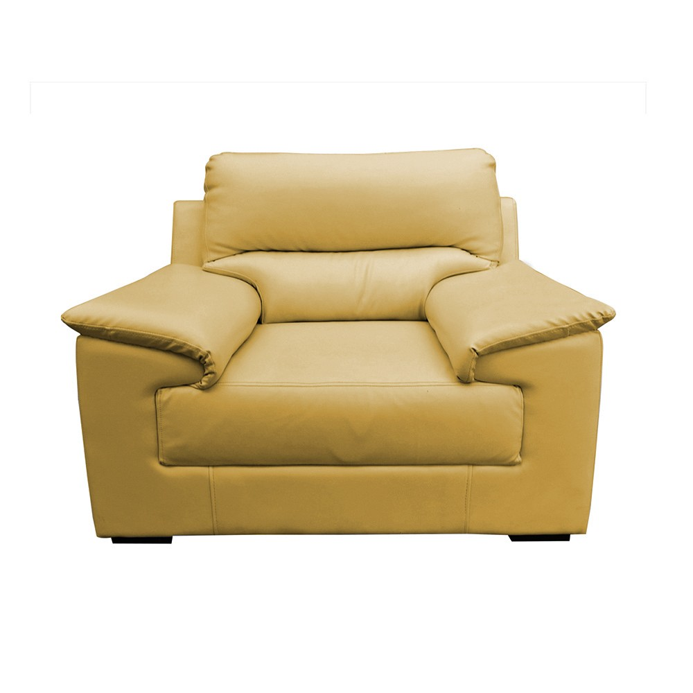 Glamour Aramchair  Seater Sofa yellow tean