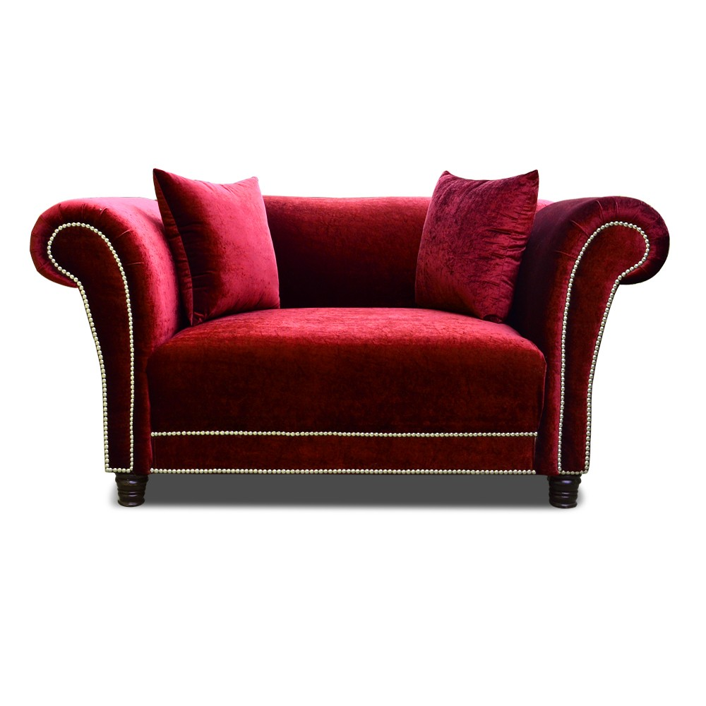 Johann two seater Sofa Red