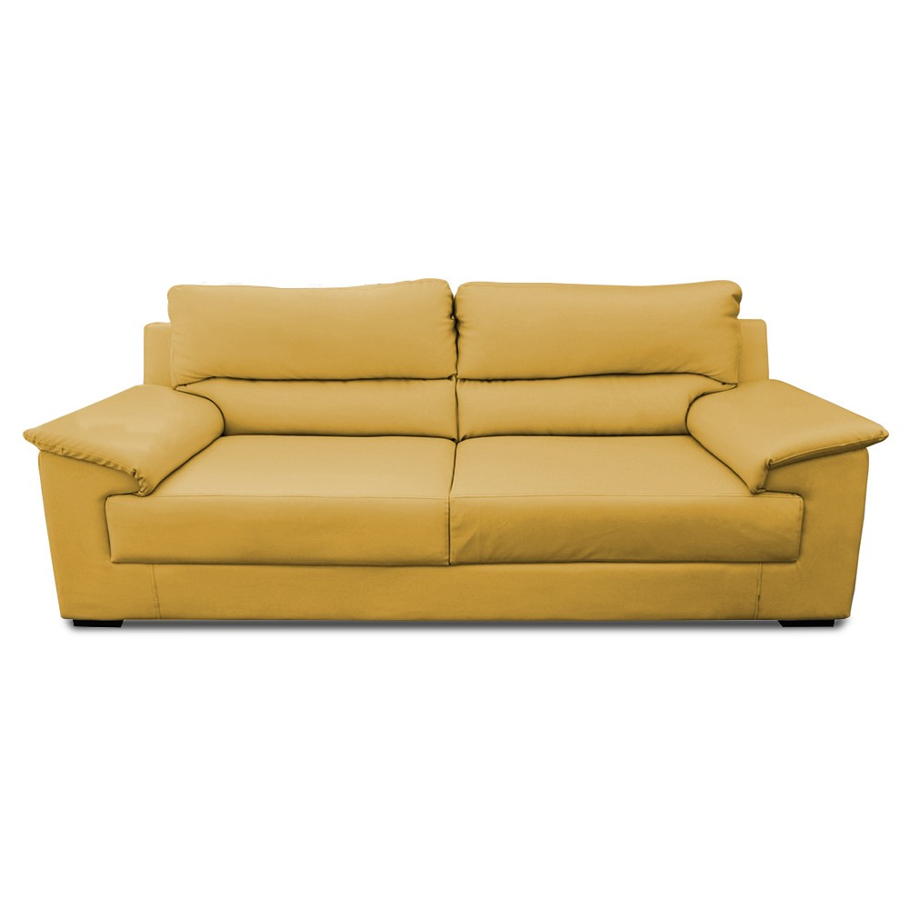 Glamour Three Seater Sofa yellow tean