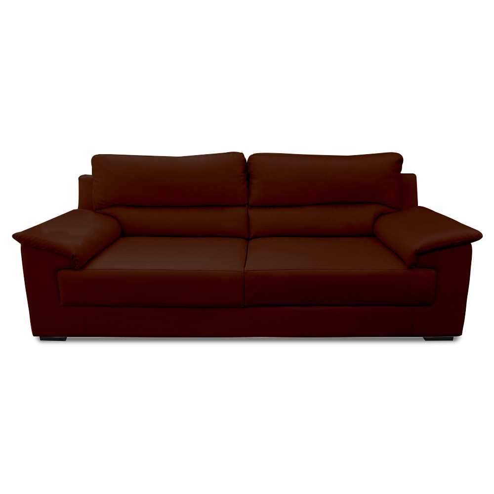 Glamour Three Seater Sofa Coffee color