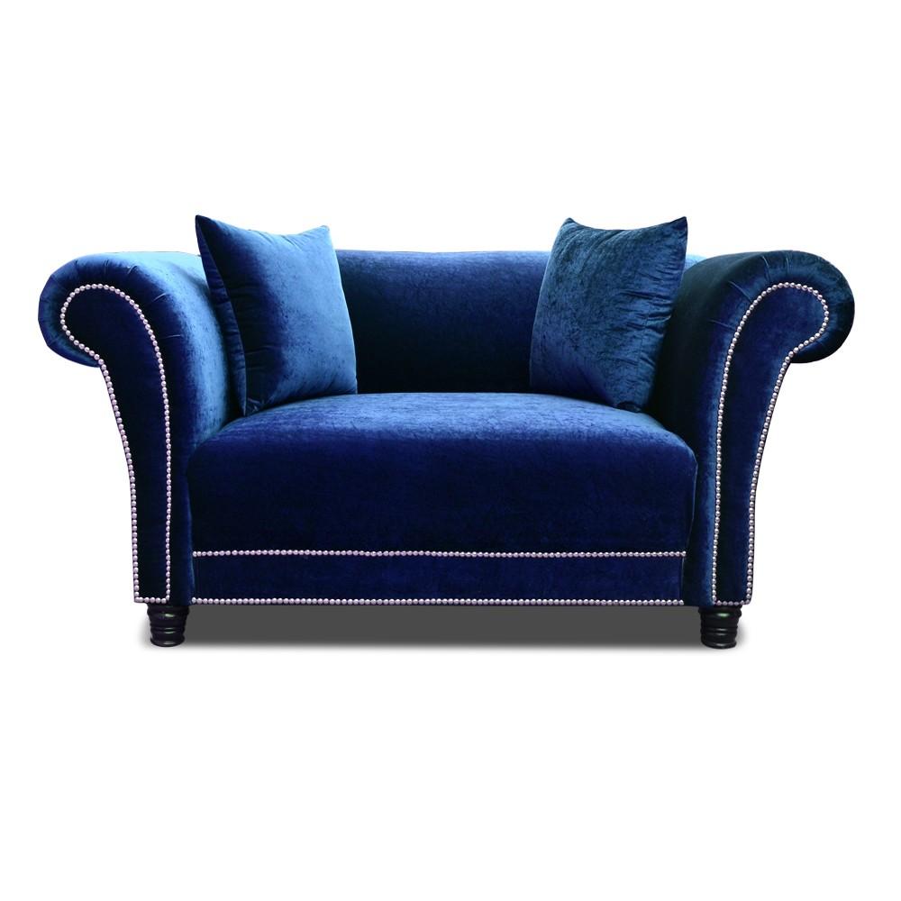 Johann two seater Sofa Blue