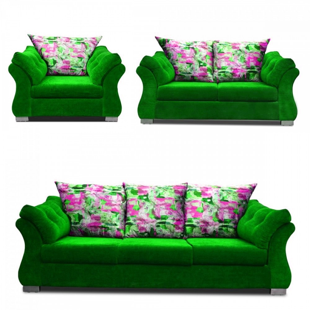 Bernard Sofa Set 3+2_1 Olive green