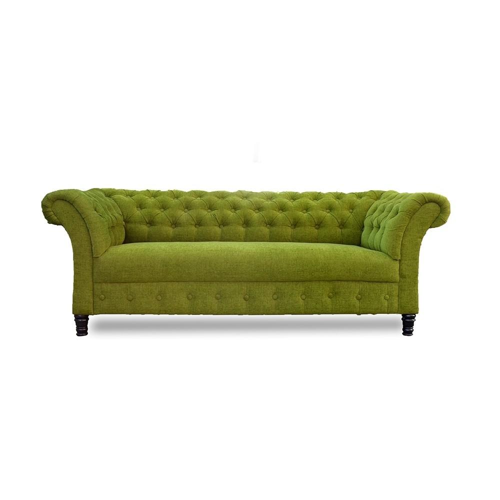 Aria chesterfield Three sofa Green