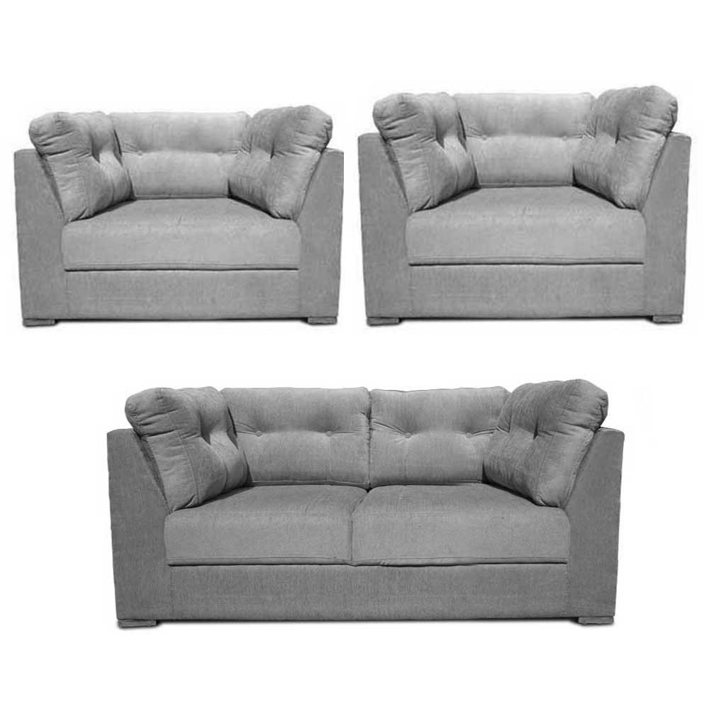 Houston Sofa Set L Grey4
