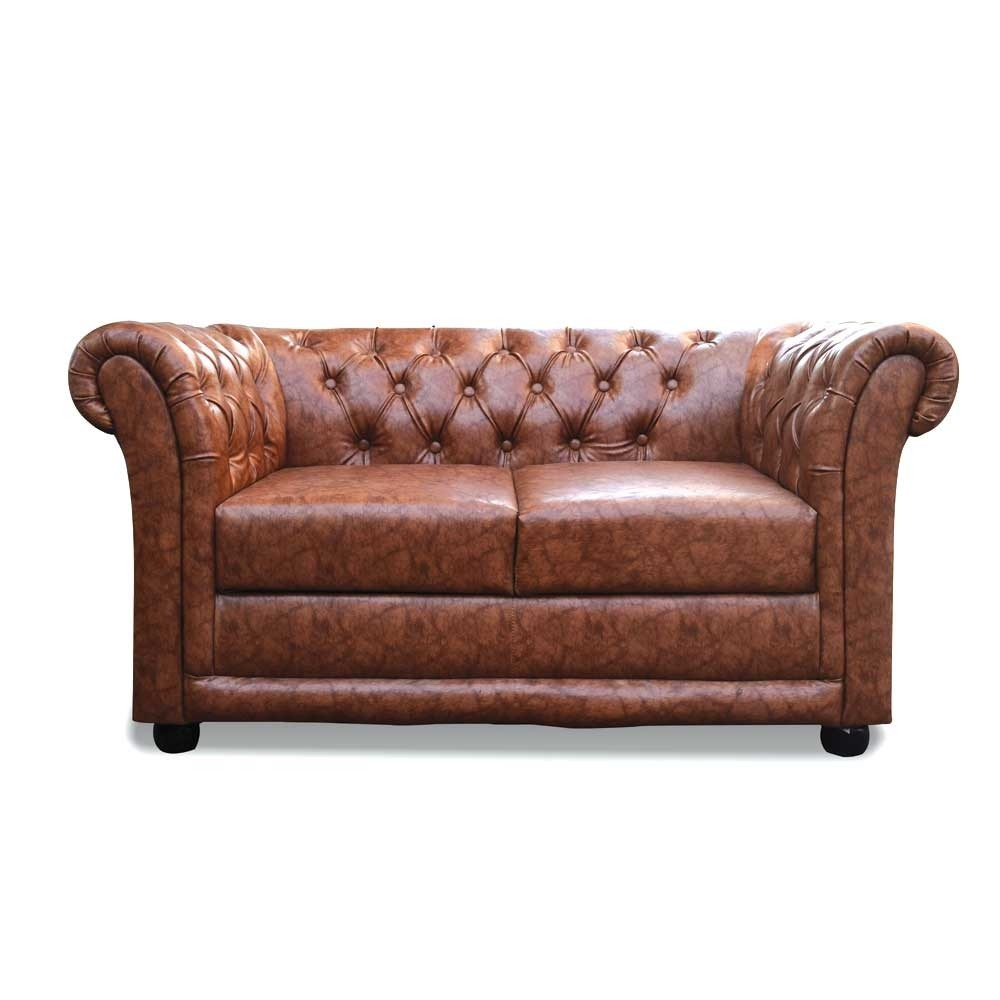 Rahi Chesterfield Two Seater sofa Brown
