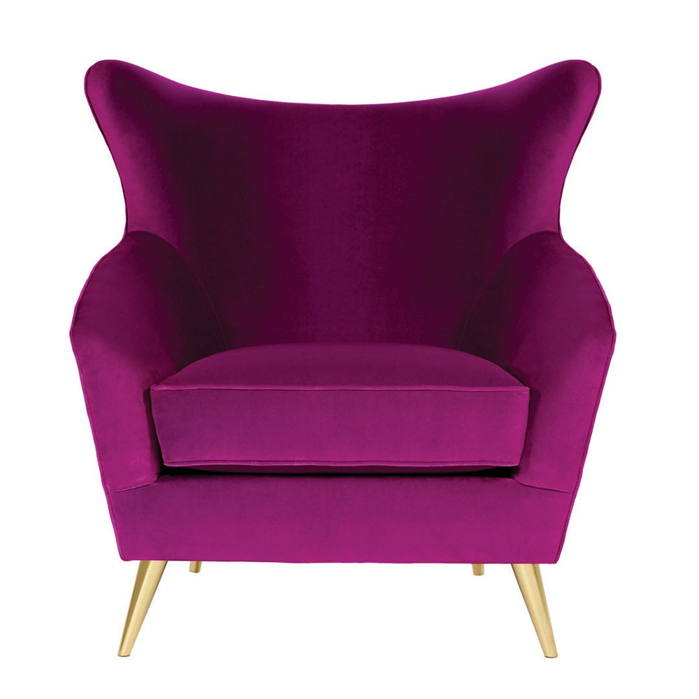 Lara Wing Accent chair purple