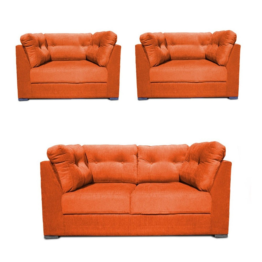 Houston Sofa Set Orange 4