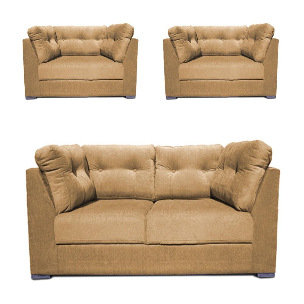 Houston Sofa Set Beige 2+1+1