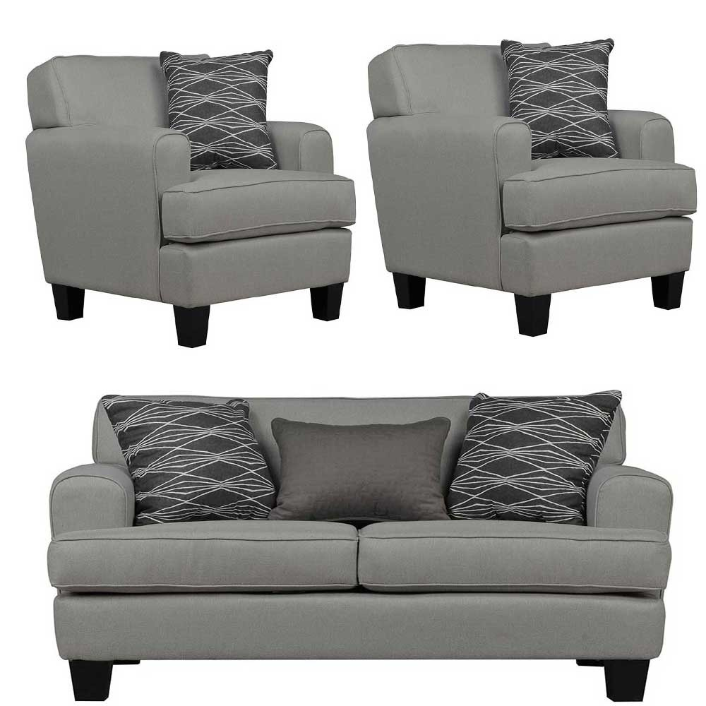Helsinki Sofa sets Grey 2+1+1