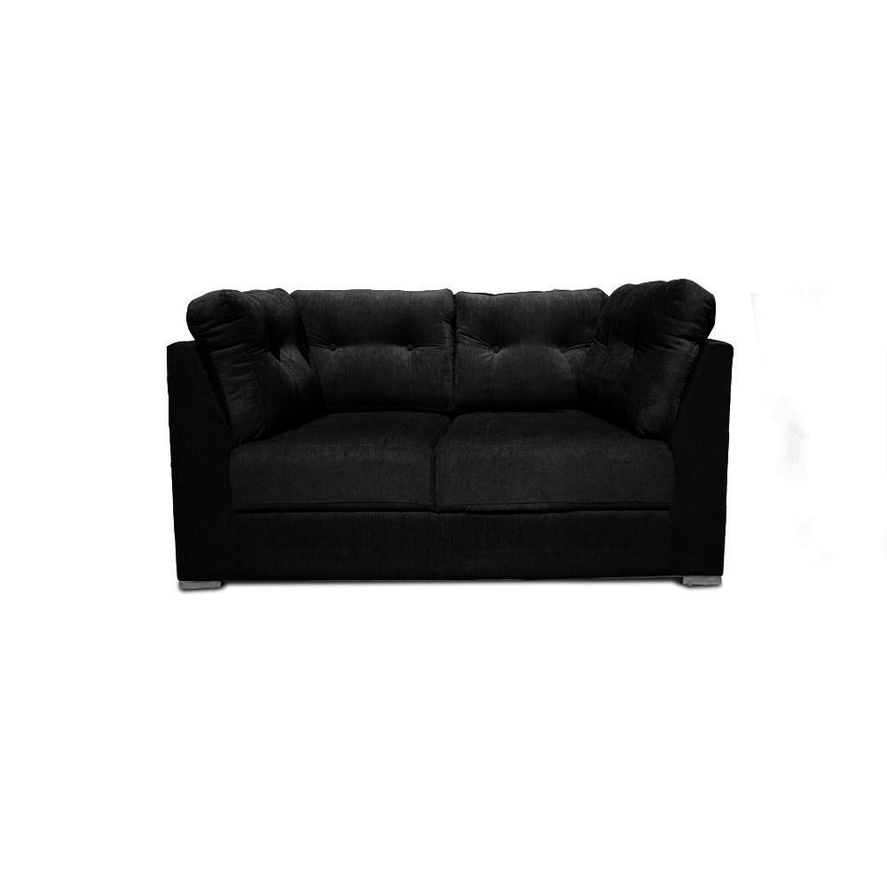 Houston Two  seater sofa Black