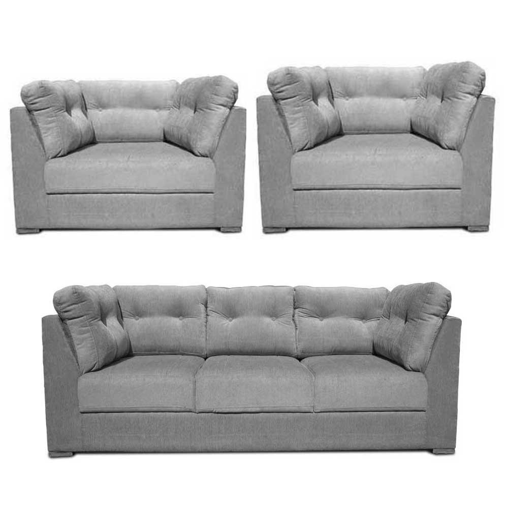 Houston Sofa Set L Grey3