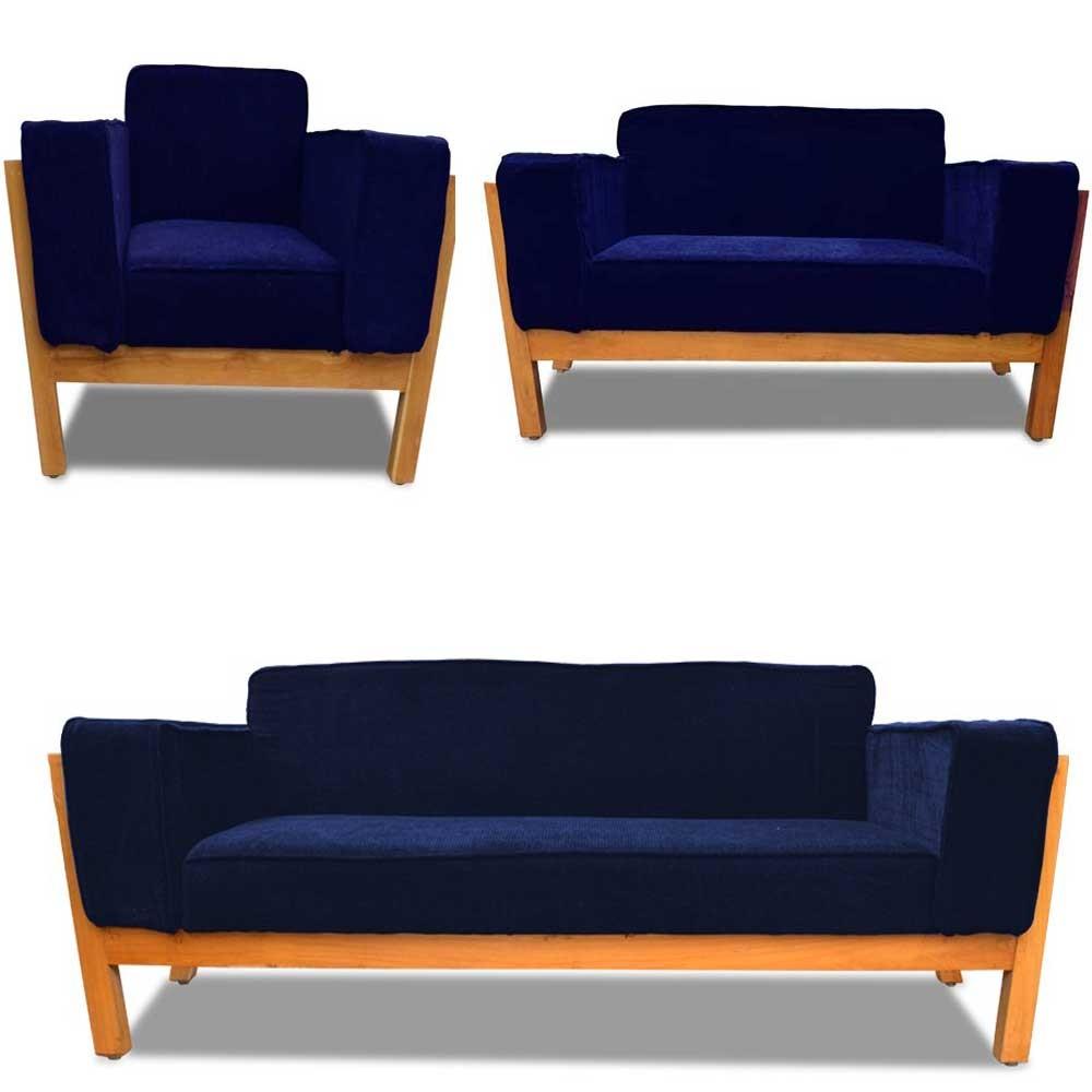 Woodard Sofa Set Blue 3+2+1