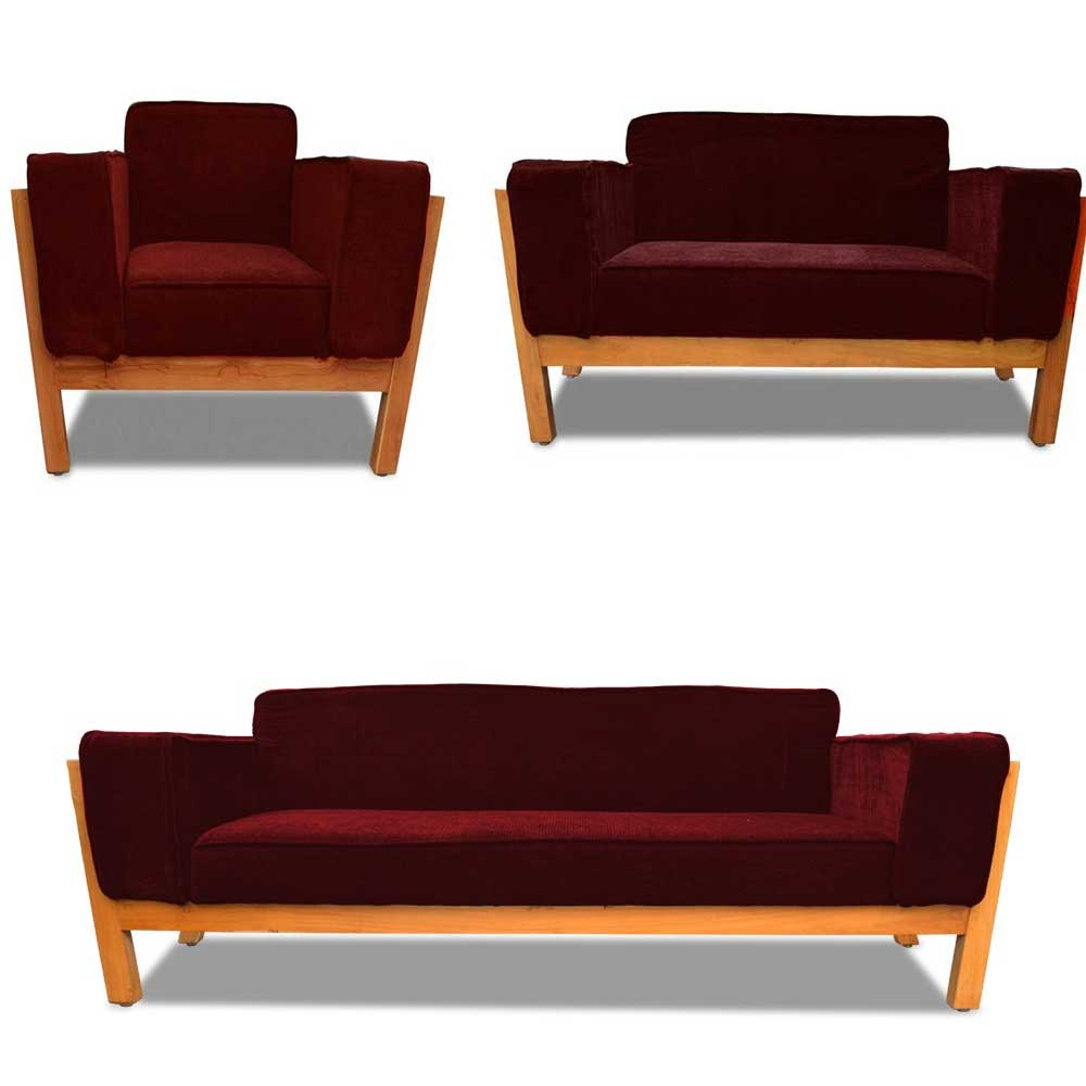 Woodard Sofa Set Red 3+2+1