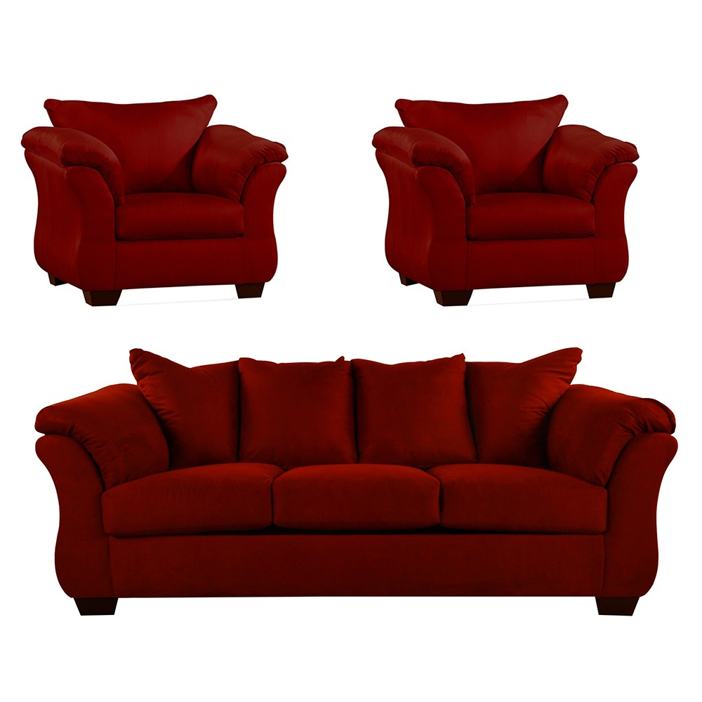 Bern Sofa Set red 3+1+1
