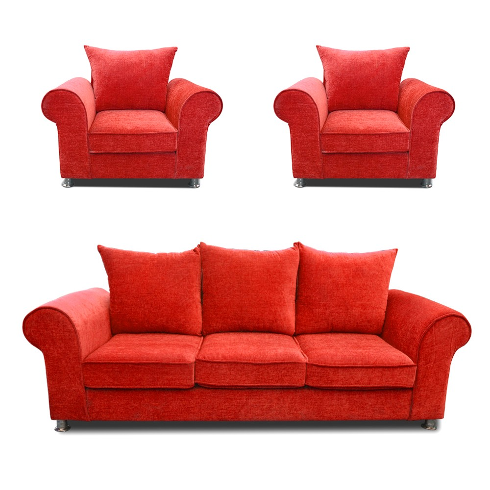 Canberra Sofa Set Red 3+1+1