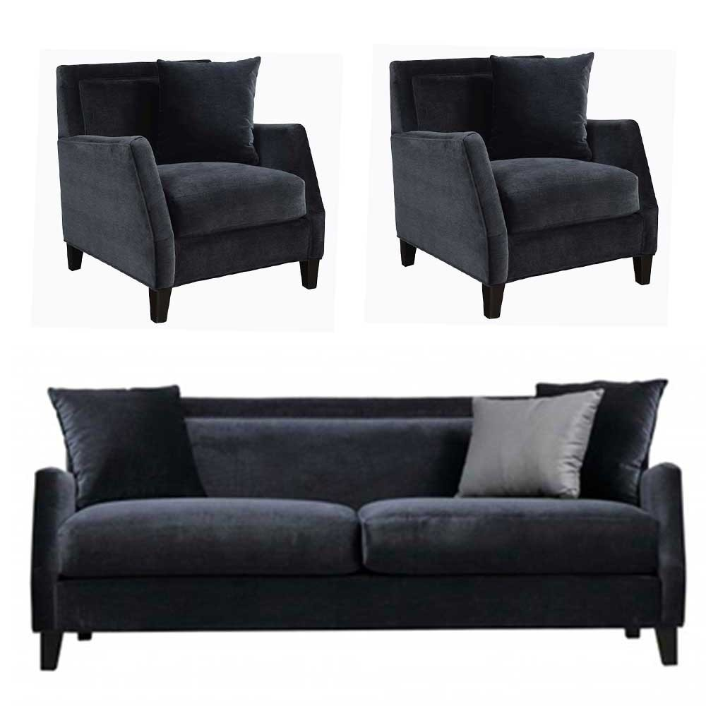 Kiev Sofa sets Black 3+1+1