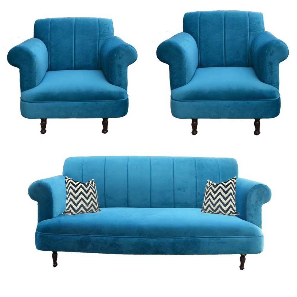 Modena Sofa Set Blue