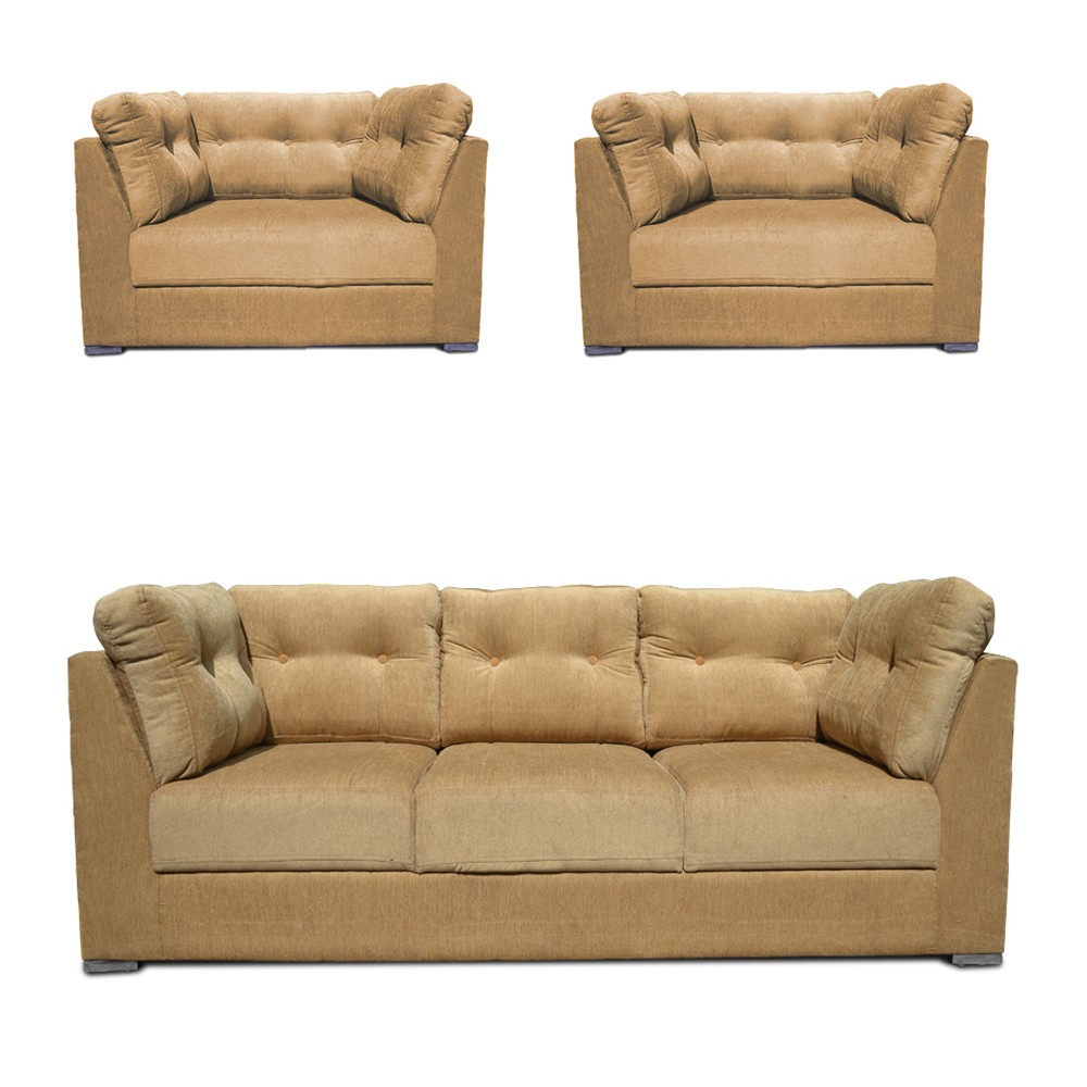 Houston Sofa Set Beige 3+1+1