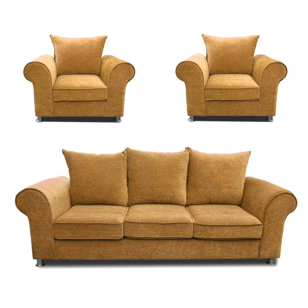 Canberra Sofa Set  Lemon 3+1+1