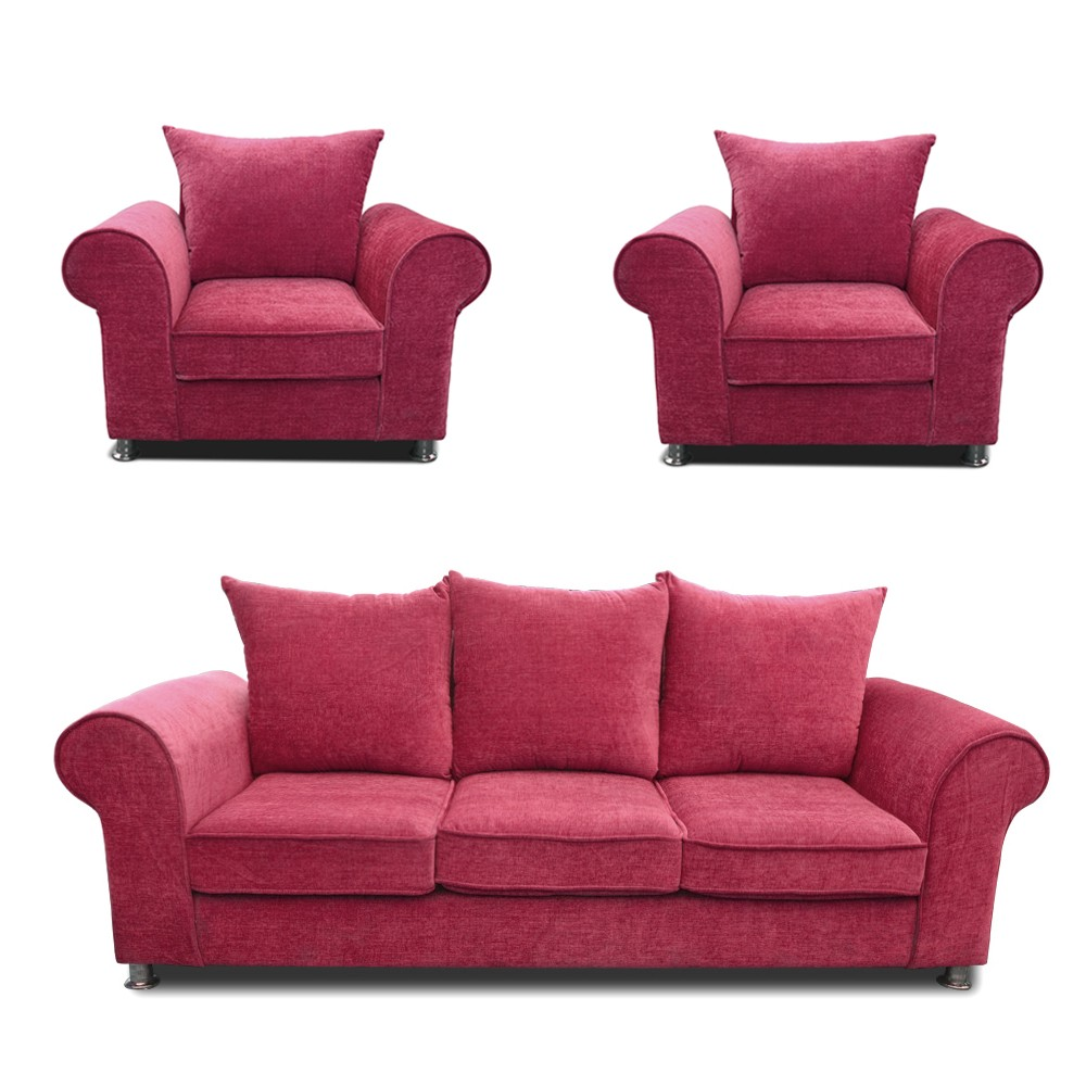 Canberra Sofa Set purple 3+1+1