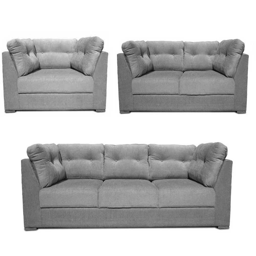 Houston Sofa Set L Grey1