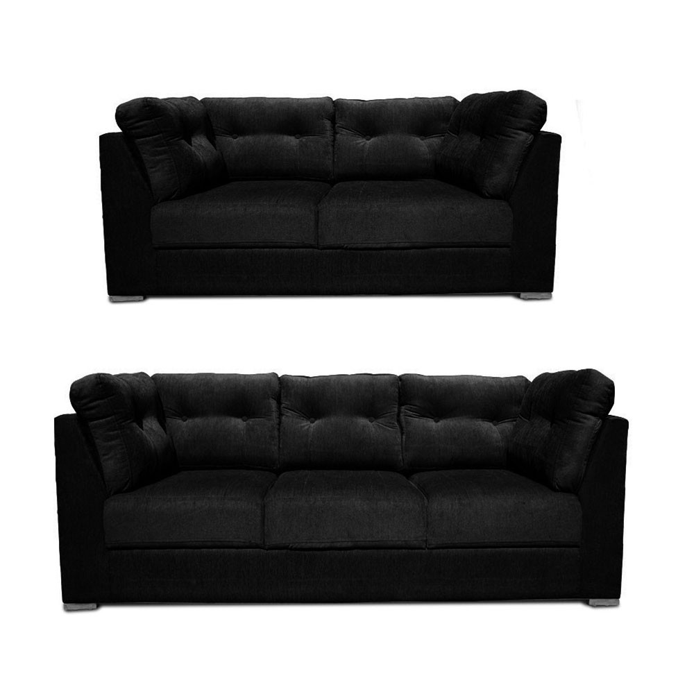 Canberra Sofa Set Black2