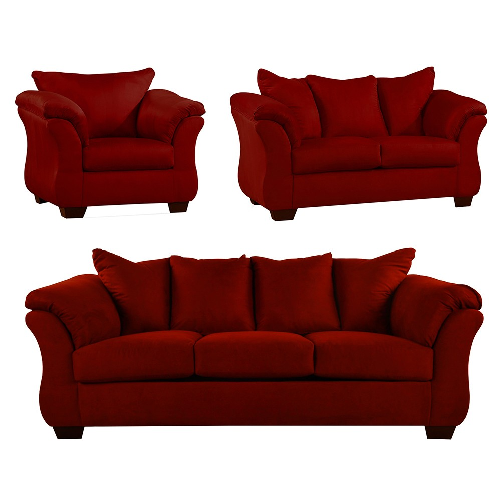Bern Sofa Set red 3+2+1