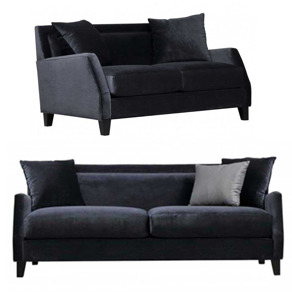 Kiev Sofa sets Black 3+2