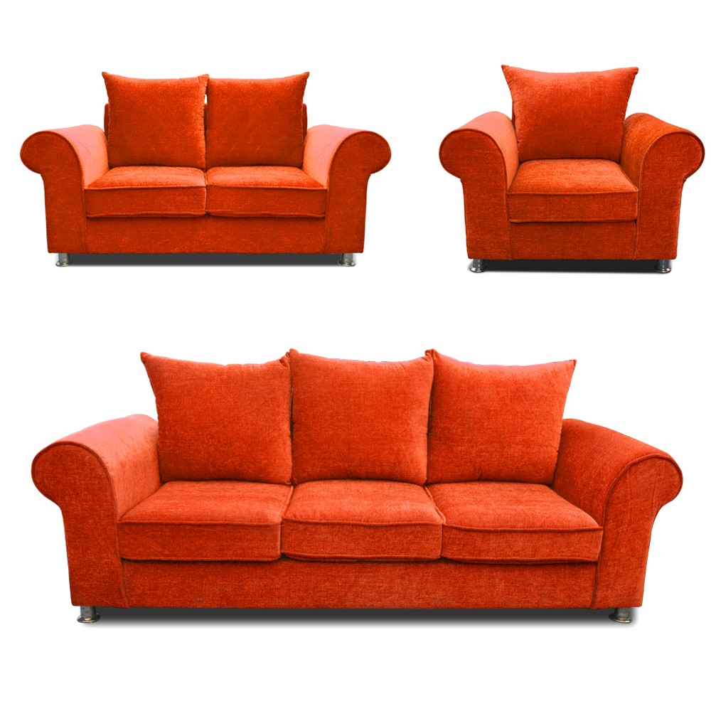 Canberra Sofa Set Orange 3+2+1