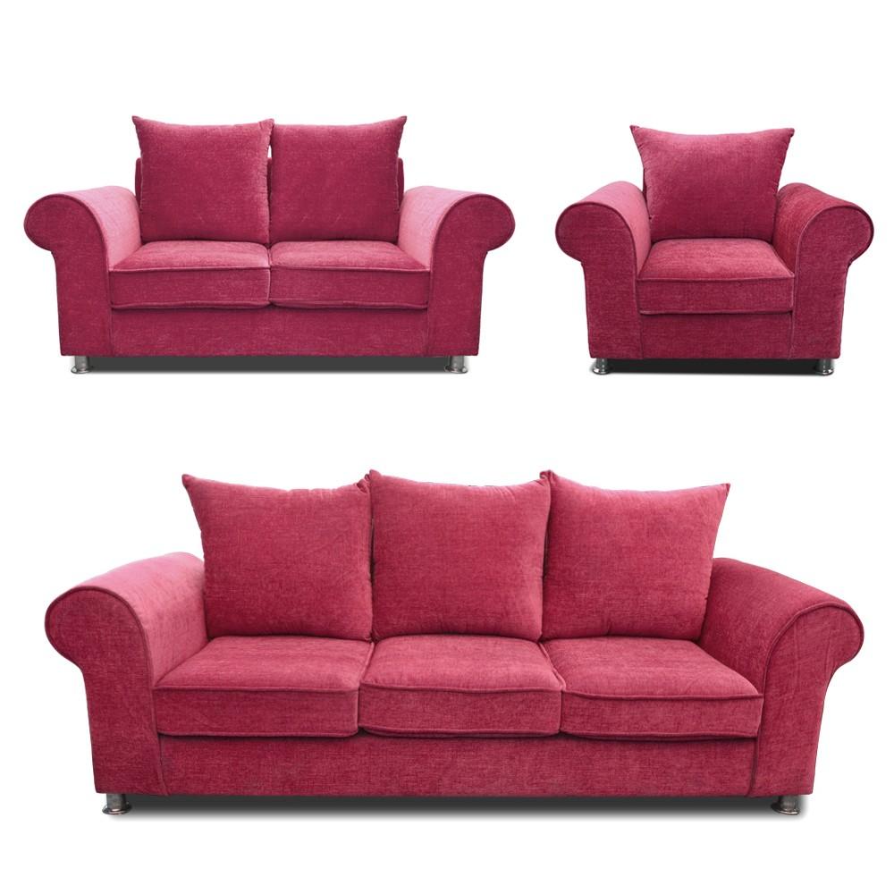 Canberra Sofa Set purple 3+2+1