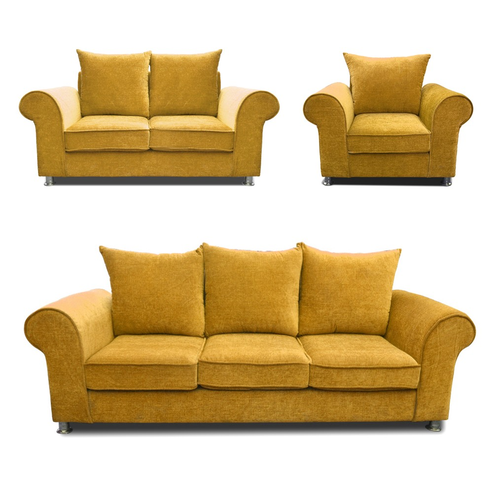 Canberra Sofa Set Fawn 3+2+1