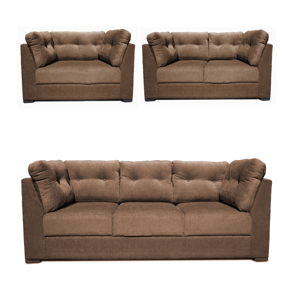 Houston Sofa Set bacco 3+2+1