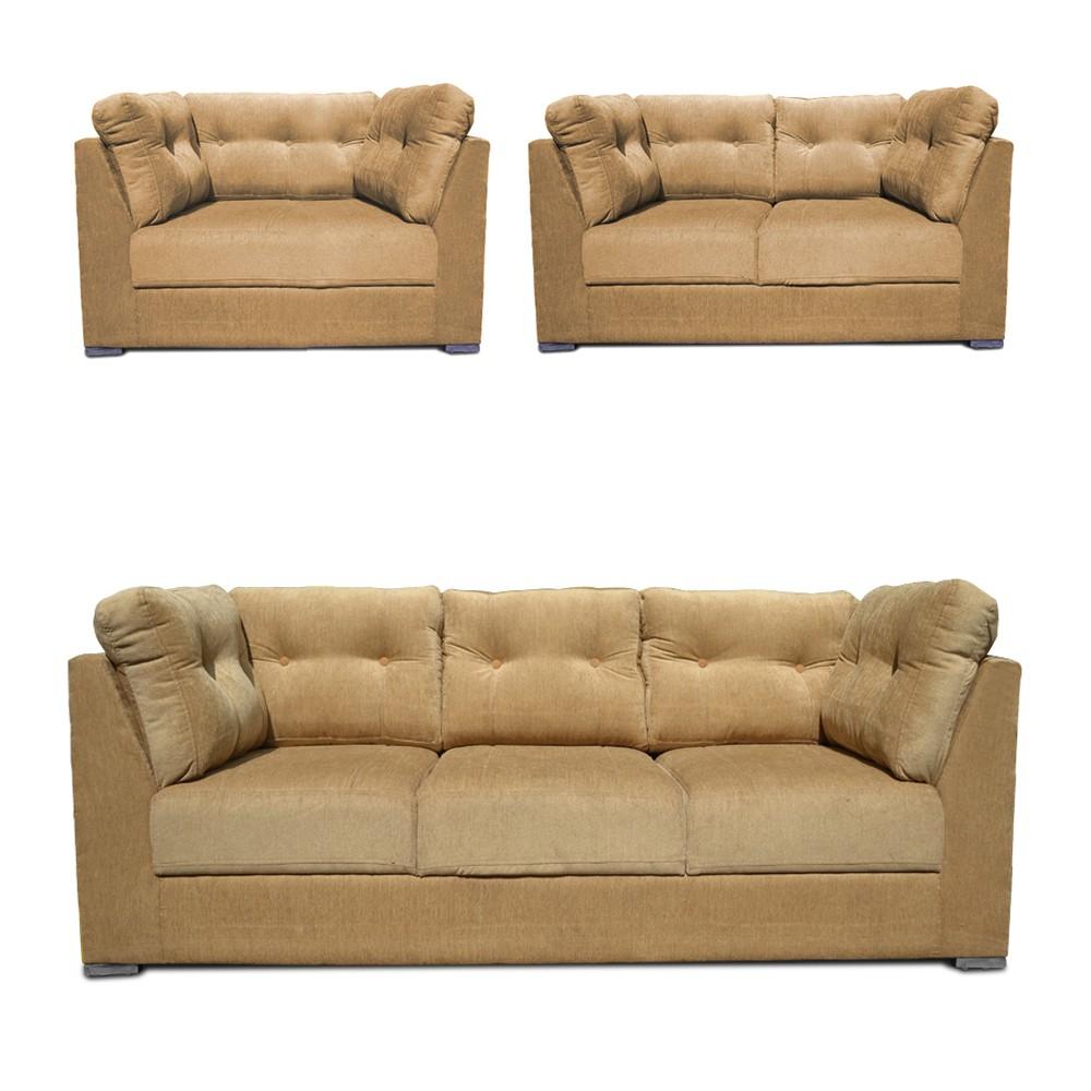 Houston Sofa Set Beige 3+2+1