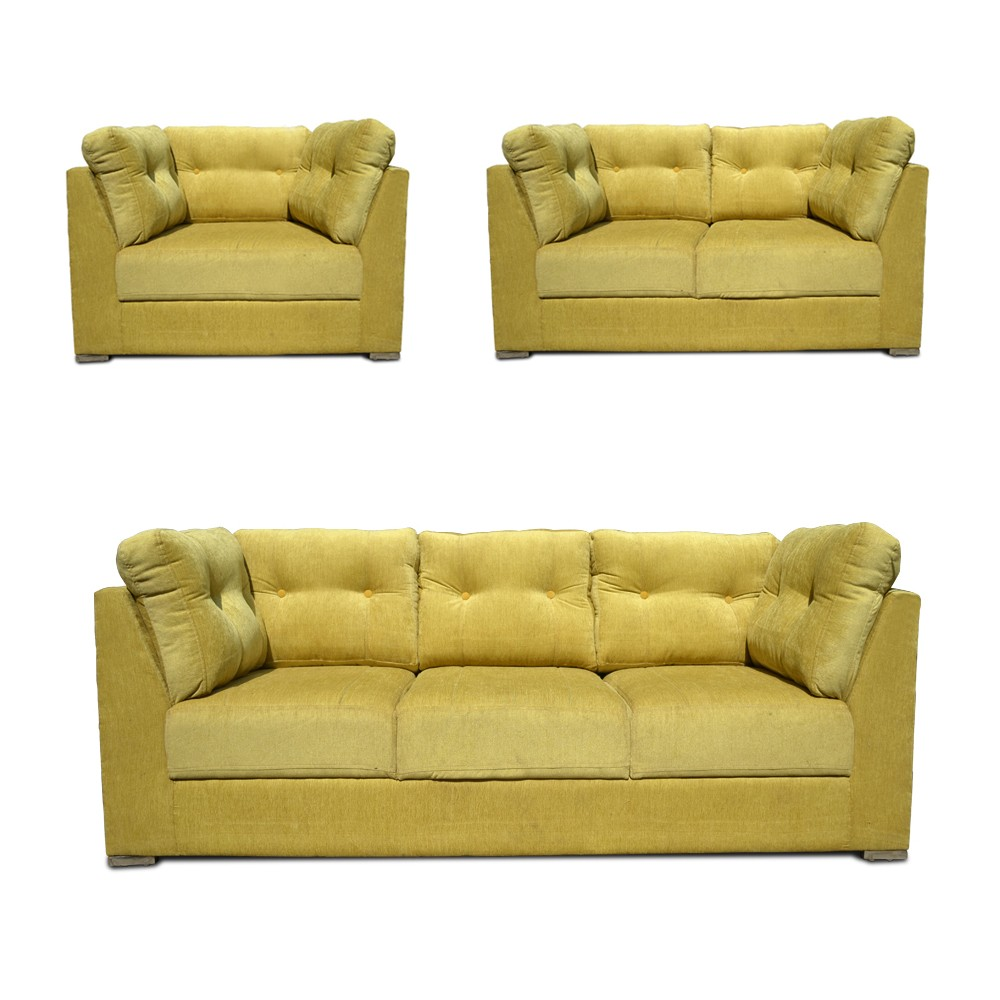 Houston Sofa Set mahandi green1
