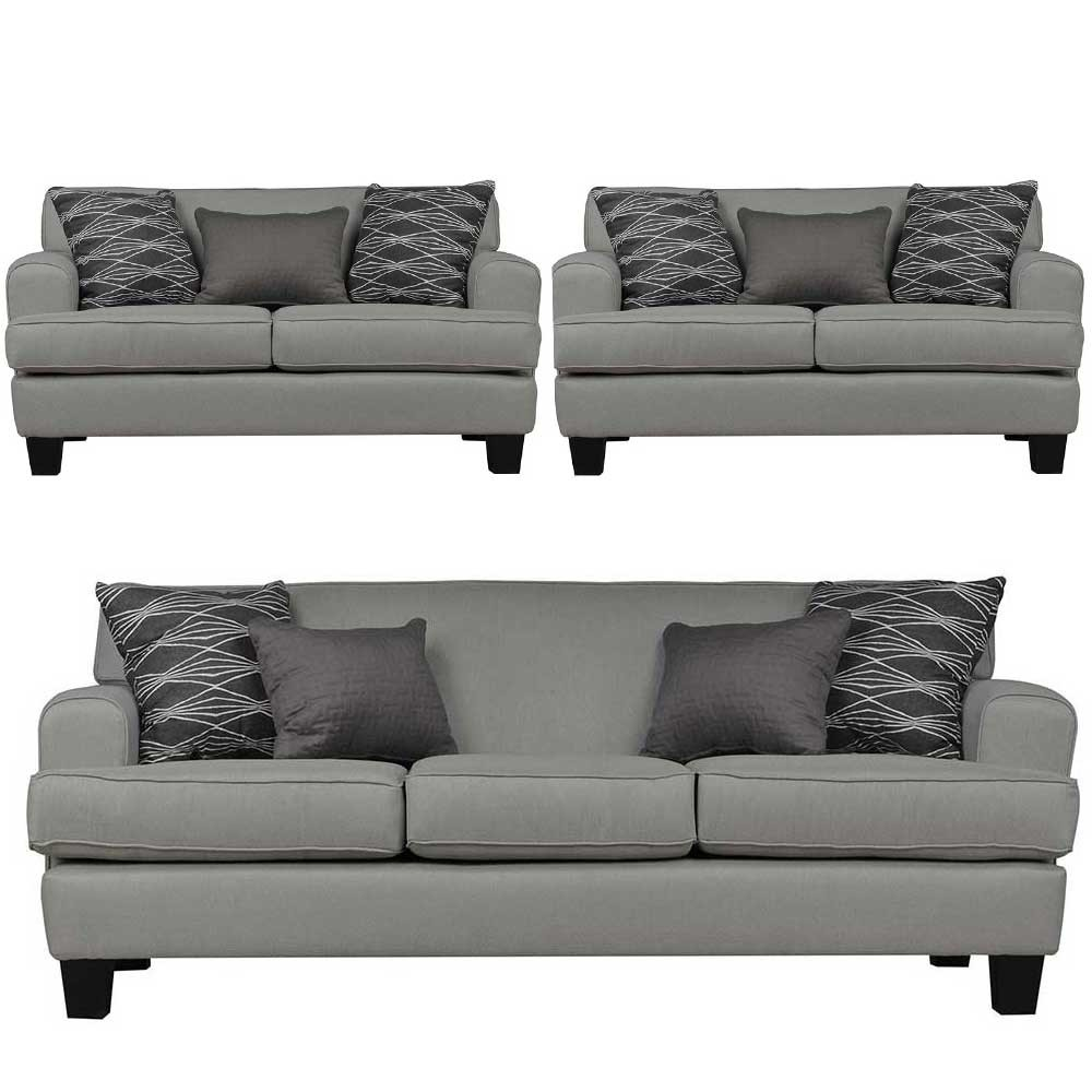 Helsinki Sofa sets Grey 3+2+2