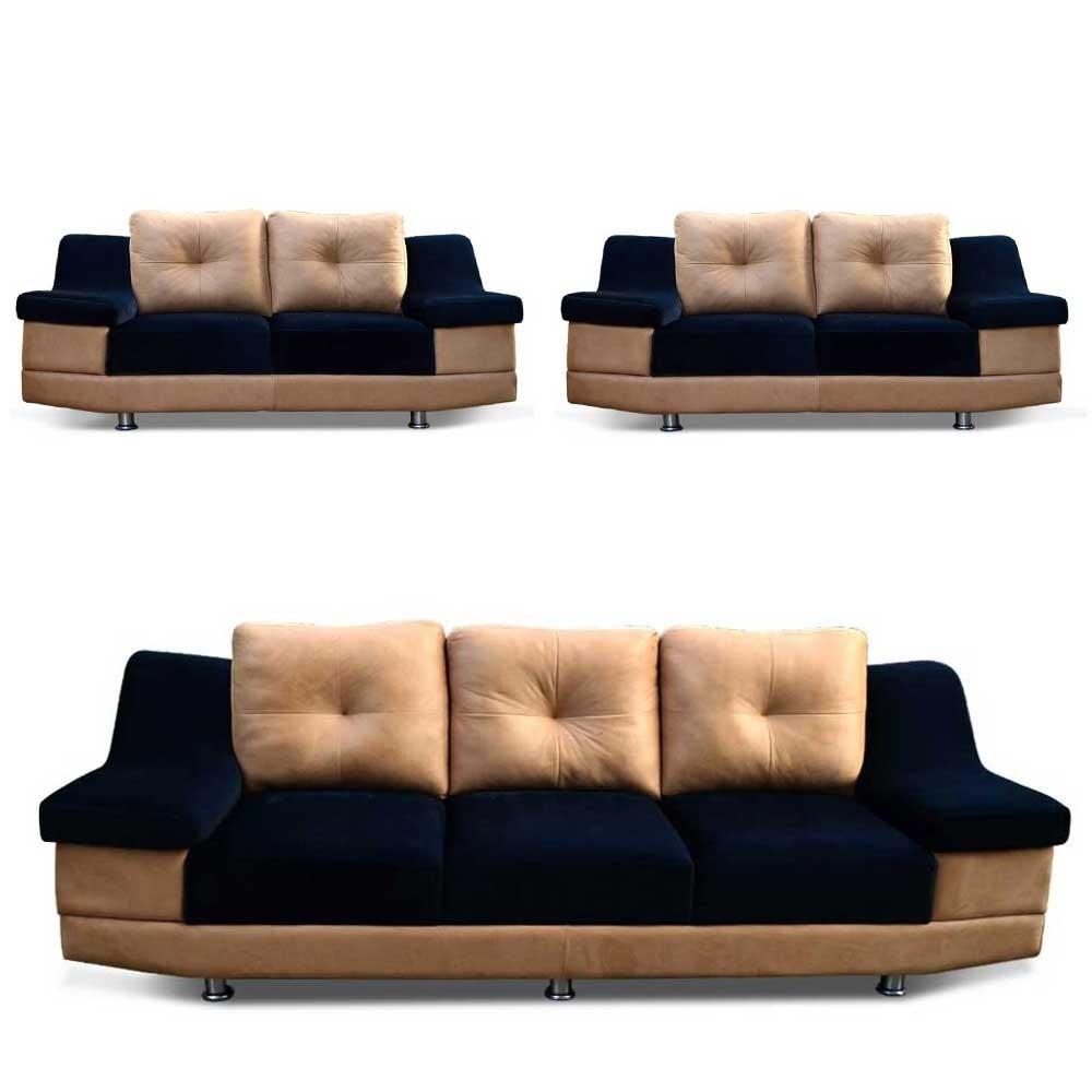 Monroe sofa set Black 3+2+2