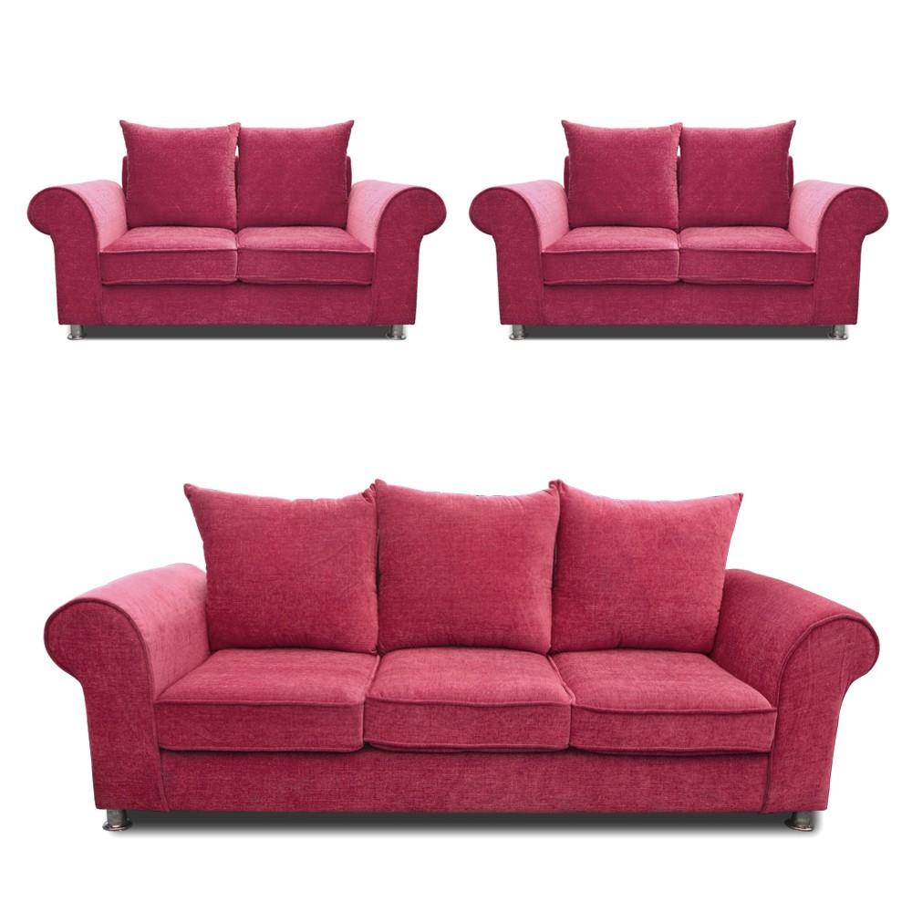 Canberra Sofa Set purple 3+2+2
