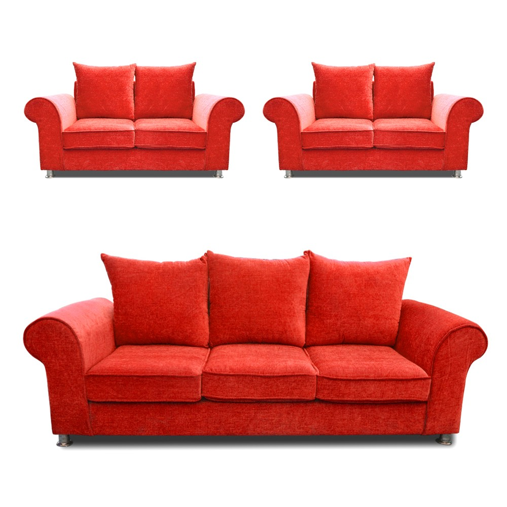 Canberra Sofa Set Red 3+2+2