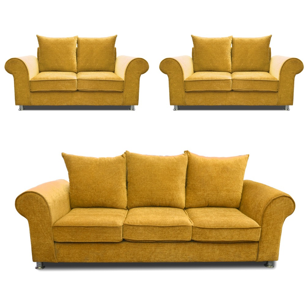 Canberra Sofa Set Fawn 3+2+2