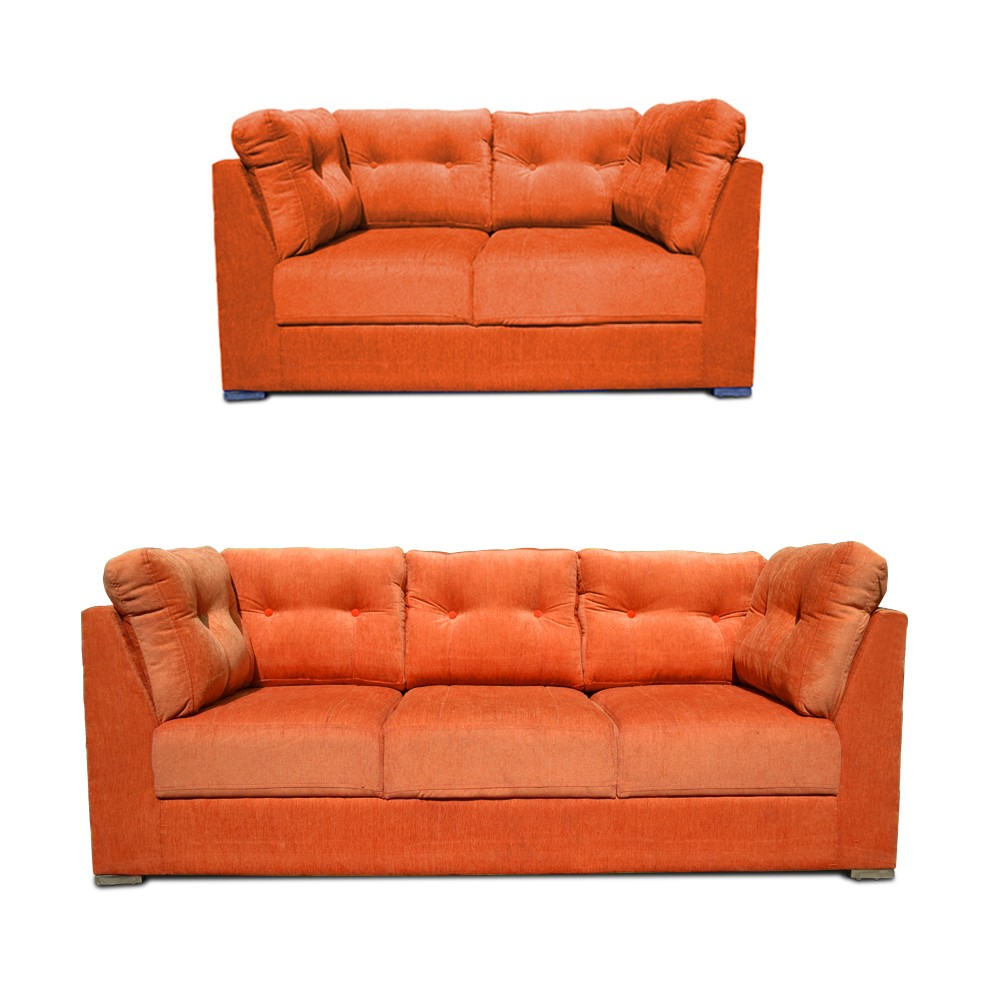 Canberra Sofa Set Orange 2