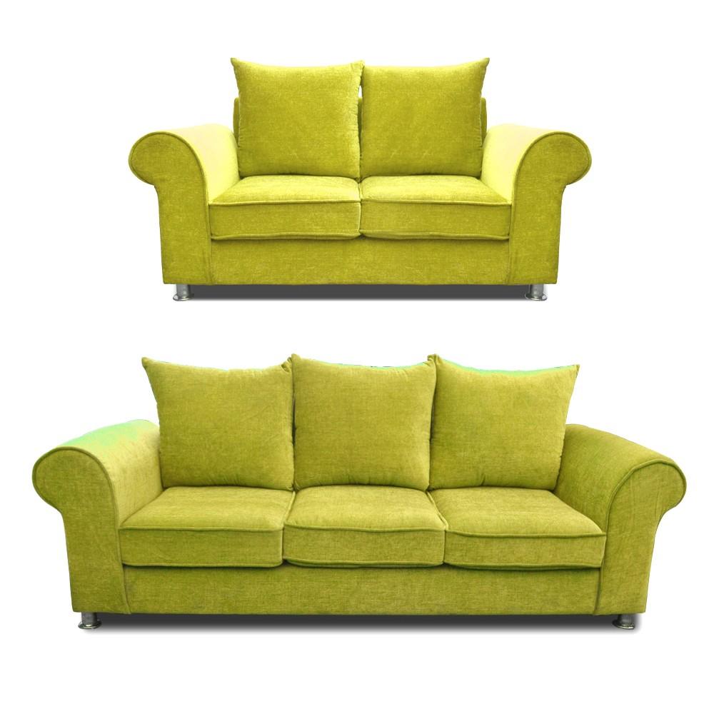 Canberra Sofa Set mehandi 3+2