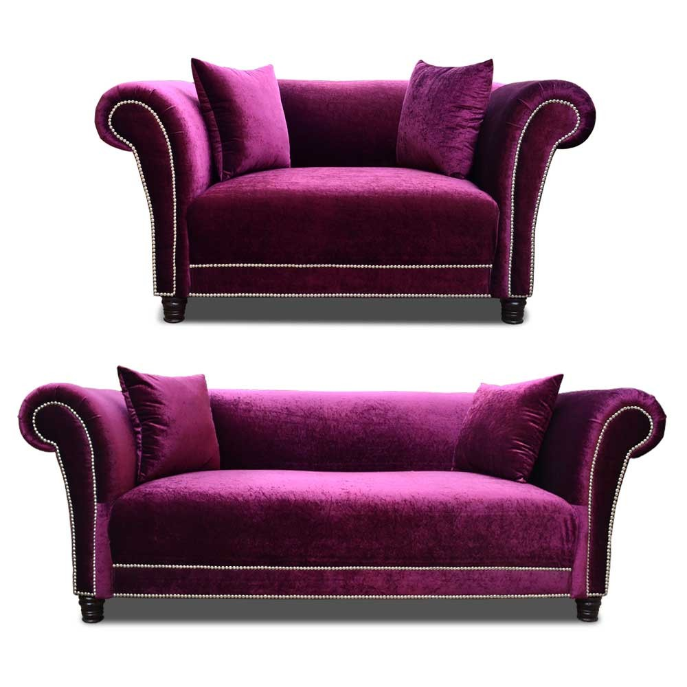 Johann Sofa Set wine 3+2