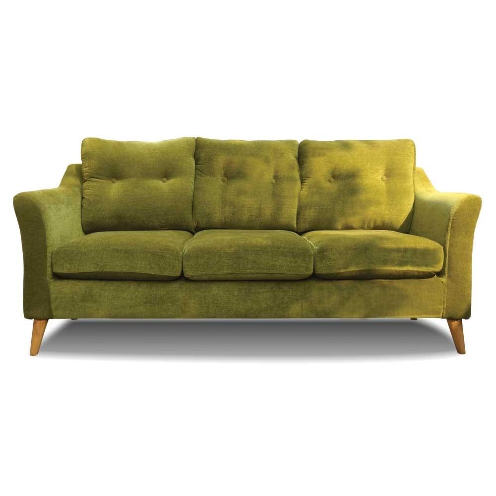 Rufus Three Seater Sofa Olive Green