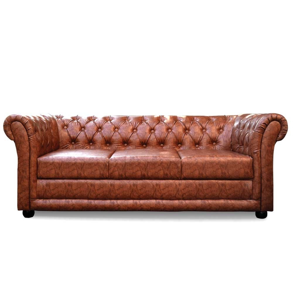Rahi Chesterfield Three Seater sofa Brown